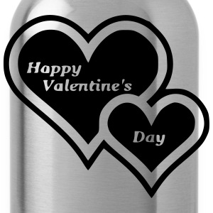 Happy Valentine s Day Two Hearts - Water Bottle