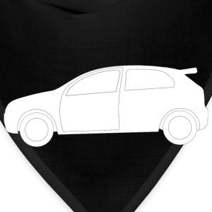 Rally Car Side View Shape - Bandana