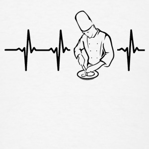 My heart beats for chefs Caps - Men's T-Shirt