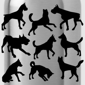 Nine Dogs Silhouettes - Water Bottle