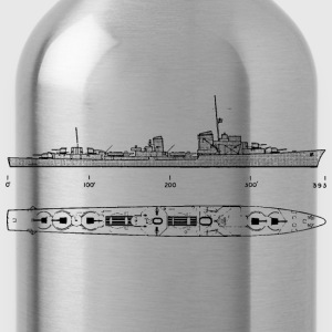 gerddtype36 Battleship - Water Bottle