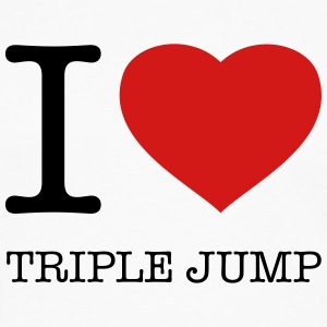 I LOVE TRIPLE JUMP - Men's Premium Long Sleeve T-Shirt