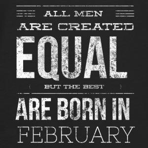 Born in february birthday Aprons - Men's Premium Long Sleeve T-Shirt
