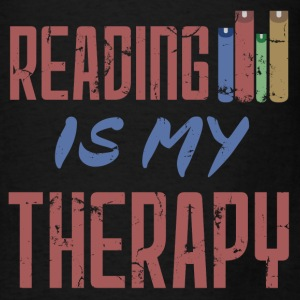 Reading Is My Therapy - Men's T-Shirt