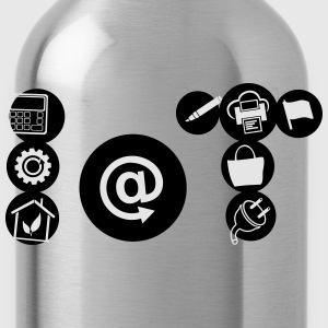 Internet of Things Icon form - Water Bottle