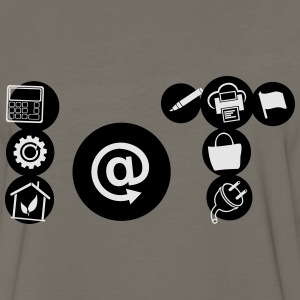 Internet of Things Icon form - Men's Premium Long Sleeve T-Shirt