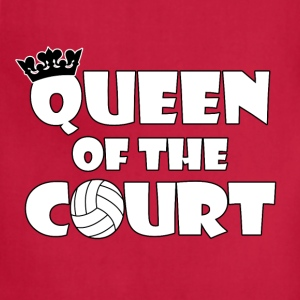 Queen of the Court Women's Volleyball T-shirt - Adjustable Apron