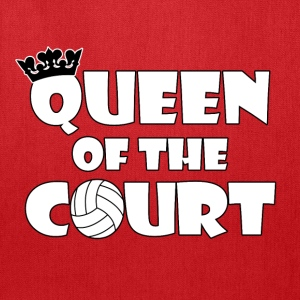 Queen of the Court Women's Volleyball T-shirt - Tote Bag
