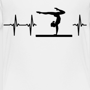 My heart beats for gymnastics Kids' Shirts - Toddler Premium T-Shirt