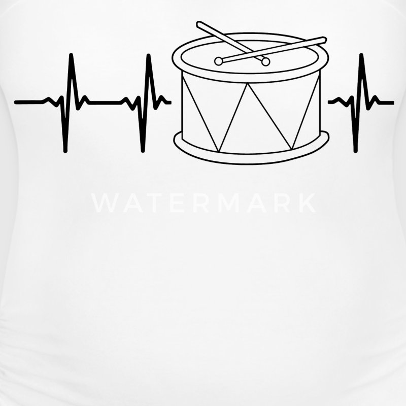 My heart beats for drums T-Shirts - Women's Maternity T-Shirt