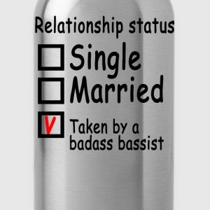 personalized_relationship_status_bassist - Water Bottle