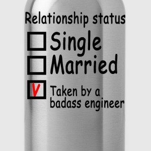 personalized_relationship_status_enginee - Water Bottle