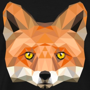 fox head low poly animal illustration art wilderne Tanks - Men's Premium T-Shirt