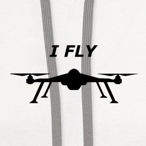 I FLY (drones) - Contrast Hoodie