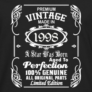 Vintage made in 1998 Caps - Men's Premium Long Sleeve T-Shirt