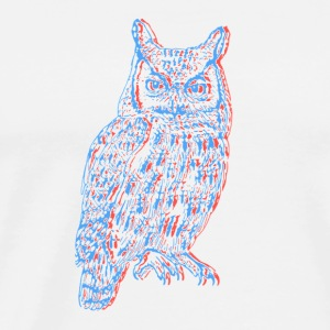 3D OWL - Men's Premium T-Shirt
