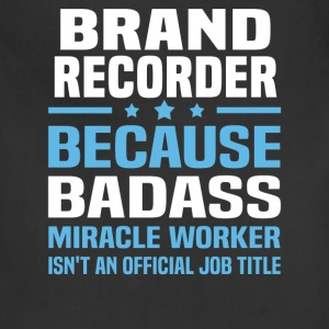 Brand Recorder Tshirt - Adjustable Apron