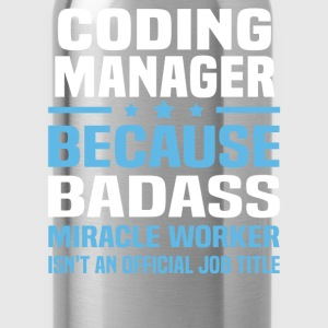 Coding Manager Tshirt - Water Bottle