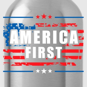 America First - President Donald Trump - Patriot Kids' Shirts - Water Bottle