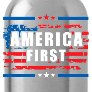 America First - President Donald Trump - Patriot 1 T-Shirts - Water Bottle