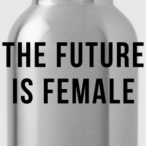 Future Is Female Quote T-Shirts - Water Bottle