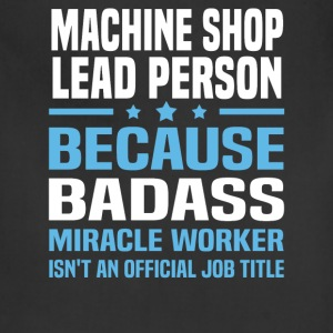 Machine Shop Lead Person Tshirt - Adjustable Apron