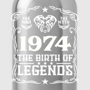 Legends 1974 T-Shirts - Water Bottle