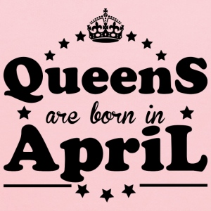 Queens are born in April - Kids' Hoodie