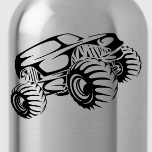 Monster Truck Abstract T-Shirts - Water Bottle