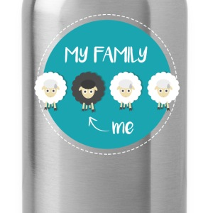 Black Sheep - My family. ->Me - Water Bottle