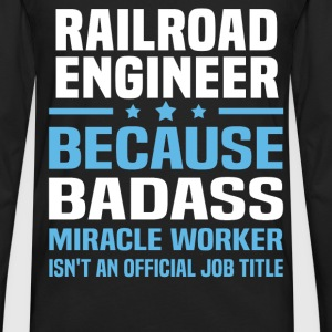 Railroad Engineer Tshirt - Men's Premium Long Sleeve T-Shirt