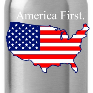 America First. T-Shirts - Water Bottle