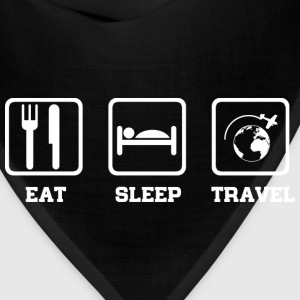Eat Sleep Travel T-Shirts - Bandana