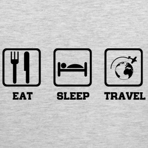 Eat Sleep Travel T-Shirts - Men's Premium Tank