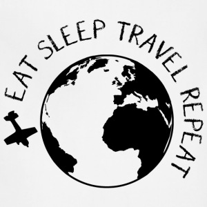 Eat Sleep Travel Repeat T-Shirts - Adjustable Apron