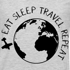 Eat Sleep Travel Repeat T-Shirts - Men's Premium Long Sleeve T-Shirt