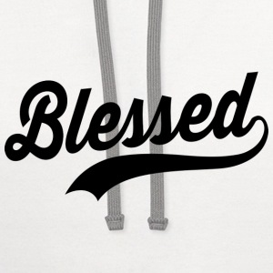 Blessed Pregnancy T-Shirts - Contrast Hoodie
