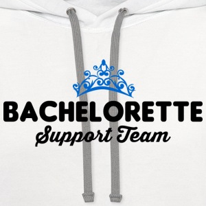 Bachelorette Support Team T-Shirts - Contrast Hoodie