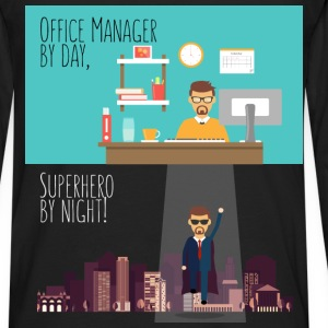 Office Manager - Office Manager by day, Superhero  - Men's Premium Long Sleeve T-Shirt
