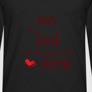 Sleeping - me + bed = sleep - Men's Premium Long Sleeve T-Shirt