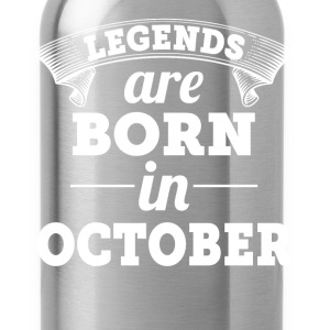 Legends are born in October birthday shirt - Water Bottle