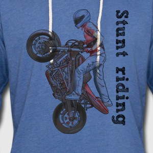 Stunt riding T-Shirts - Unisex Lightweight Terry Hoodie