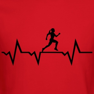 Running Woman & Heartbeat T-Shirts - Crewneck Sweatshirt