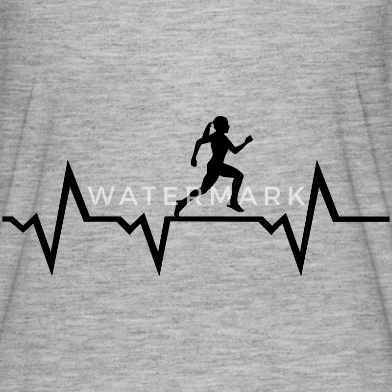 Running Woman & Heartbeat T-Shirts - Women's Flowy T-Shirt