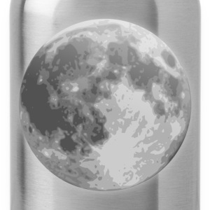 weather icon full moon - Water Bottle