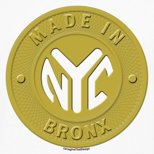 Bronx Subway Token Buttons - Men's Premium Long Sleeve T-Shirt