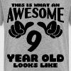 This is what an Awesome 9 year old looks like - Kids' Premium T-Shirt