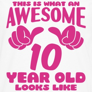 This is what an Awesome 10 year old looks like - Men's Premium Long Sleeve T-Shirt