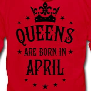 Queens are born in April birthday Crown sexy Tee - Unisex Fleece Zip Hoodie by American Apparel