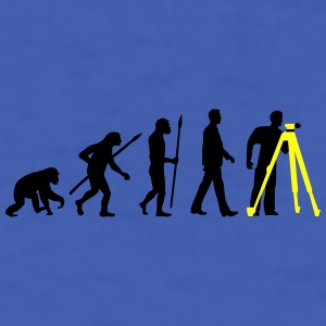 evolution_of_man_surveying_technician_b_ Mugs & Drinkware - Men's T-Shirt